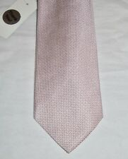 Brooks Brothers Men's Beige Pink White Micro Dot Neck Tie 100% Silk NWOT
