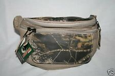 MOSSY OAK CAMOUFLAGE FANNY WAIST PACK - LEATHER & CANVAS CAMO MEN'S LADIES