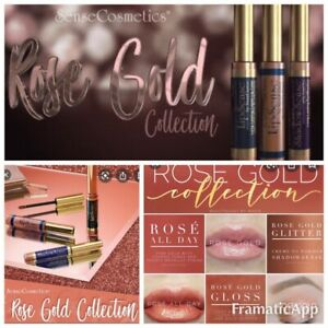 ROSE GOLD COLLECTION GIFT SET Senegence Lipsense ShadowSense ROSE GOLD Gloss y