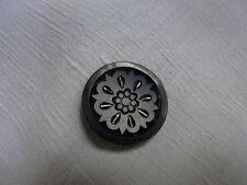 bv24/ button antique black glass dia27 Old black glass button boton antiguo