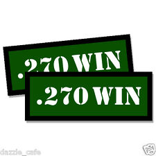 270 WIN Ammo Can Stickers 2x Ammunition Gun Case Labels  GREEN Decals 2 pack