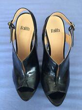 Fe Zapatos De Taco Mujer Negra Talla 6 (BX).