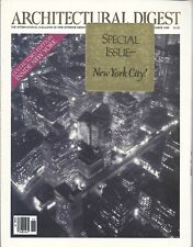 Architectural Digest December 1989 . Special Issue - New York City!