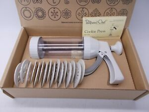 Pampered Chef Cookie Press #1525 Complete With Box & Insert