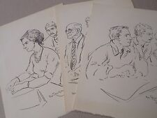Boris Taslitzky-Lithographies-estampes -lot de 3-1964