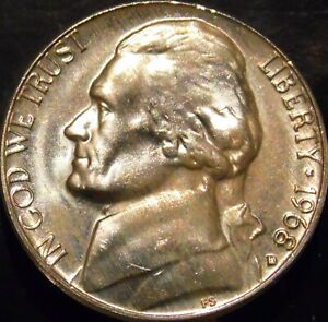 1968-D Jefferson Nickel Uncirculated BU Nice No Problem Coin