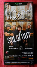 AC/DC promo IMOLA SOLD OUT  fold out flyer Hard Rock Angus gnr