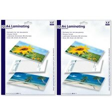 Pack of 36 A4 Laminating Pouches 80 micron Glossy Finish Laminate Laminator