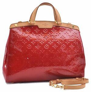 Auth Louis Vuitton Vernis Brea GM 2Way Shoulder Hand Bag Red M91617 LV D5116