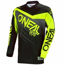 O'neal Element Long Sleeve Sleeved DH Downhill MTB Bike Jersey Black Neon Large