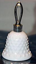 AVON Milk Glass Hobnail Bell Perfume Bottle HERE'S MY HEART Vintage