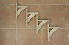 """Wooden Shelf Brackets x 4 (Ideal for 6.5"""" - 8"""" Shelves)"""