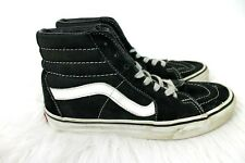 Vans Sk8 Hi Shoes Skateboard size 5.5 Mens 7 Womens Black Suede High Top