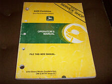 John Deere 4425 Combine Operator's Manual