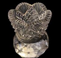 "Antique ABP 1899 Higgins & Seiter Brilliant Cut Glass Toothpick Holder 2.5""H 2""W"