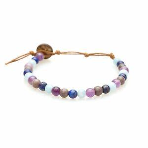 Lotus and Luna WISDOM & VITALITY Bracelet Lapis Amethyst Adjustable 40093