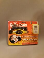 Hear Now Talk & Train 2-Way Wireless Dog Training Collar 2 mile Raido Controller
