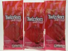 Twizzlers Lot of 3 Cherry Pull N Peel Candy Chewy Licorice Candies Sweet