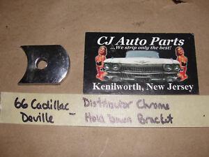 OEM 1966 66 Cadillac DeVille 429 ENGINE CHROME DISTRIBUTOR HOLD DOWN BRACKET