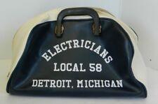 Rare Vintage IBEW Electricians Local 58 Detroit Shamrock Tufflex Toter Tool Bag