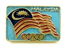 Very rare MALAYSIA  NOC Olympic Committee Pin Badge 1970s Generic
