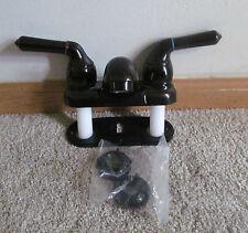 """4"""" Dual Teapot Bathroom Faucet Plastic ORB Bronze Color RV Camper Motorhome"""
