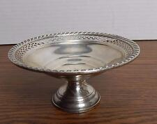 VTG 1950'S Gruen Sterling Weighted Pierced Rim Compote Candy Dish EUC