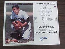 Yogi Berra Autograph Hall of Fame Induction Day 8 x 10 photo New York Yankees