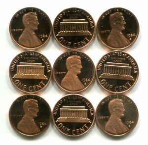 Roll of GEM PROOF CAMEO 1984-S Lincoln CENTS - Free Shipping