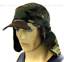 Sun Cap Ear Flap Neck Cover hat Sun Protector Fishing Hunting Outdoor-Camouflage