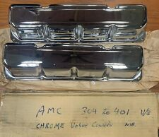 amc Jeep Javelin Chrome Valve Covers , 304 360 390 401 , New Old Stock
