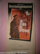 Die Helden des September DDR Filmplakat 1954 60x28 cm gerollt movie poster top