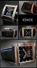 XEMEX Avenue Midsize petite seconde orologio zaffiro vetro cuoio stata limitata NUOVO