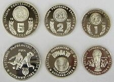 Bulgarien / Bulgaria 1,2,5 Leva 1980 PP / proof