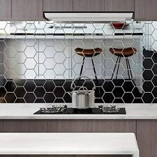 48X 3D Mirror Tiles Mosaic Wall Stickers Self Adhesive Bedroom Art Decal Home B