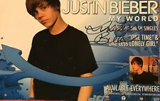 Justin Beiber Signed Poster Justin Bieber Autographed Poster 11x17 My World
