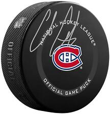 Cole Caufield Montreal Canadiens Autographed Official Game Puck