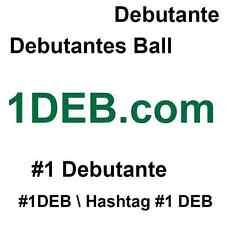 1DEB.com ~ #1 Debutante ~ Aged Premium  4 Letter .com ~ Four Character domain