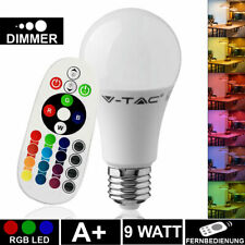 RGB LED 9 W Leuchtmittel E27 Farbwechsel Birne 806 lm Lampe Fernbedienung DIMMER