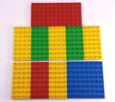 lot of 10 Duplo Base Plates    8 - 4x8   1 - 8x8      1 - 12x6 Building Blocks