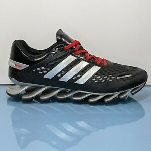ADIDAS Springblade Mens 10.5 M Black Silver Red Athletic Running Shoes EUC