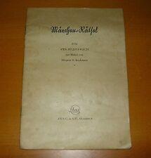 antik Bilderbuch Märchen Rätsel AWA München