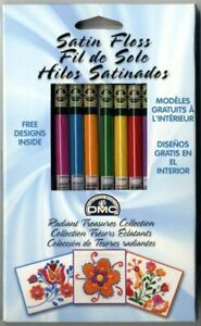 8 Skeins of DMC Satin Floss Radiant Treasures Set 1008FPK1