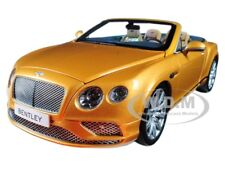 2016 BENTLEY CONTINENTAL GT CONVERTIBLE SUNBURST GOLD 1/18 BY PARAGON 98232