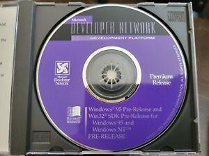 """RARE: Microsoft Windows 95 Pre-Release / Beta from MSDN """"Premium Release"""""""