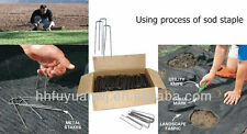 """400 6"""" Landscape Staples~SOD Staples Garden Stakes Weed Barrier Pins commercial"""