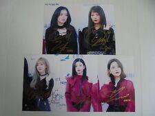 Red Velvet Korean Pop All Member Signed 5 Photos 4x6 Autographed USA SELLER R2