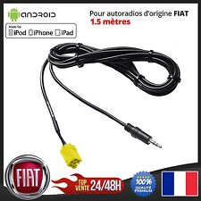 Câble AUX MP3 Auxiliaire Jack 3.5mm Fiat Punto 500 EVO Panda Qubo Fiorino Croma
