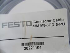 New: Festo Connector Cable Sim-M8-3Gd-5-Pu Connection link cable