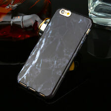 Slim Retro Granite Marble Pattern Soft TPU Phone Case Cover For iPhone 5 8 7Plus